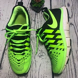 Nike Free Trainer 5.0 Neon Green/Black Woven—8.5